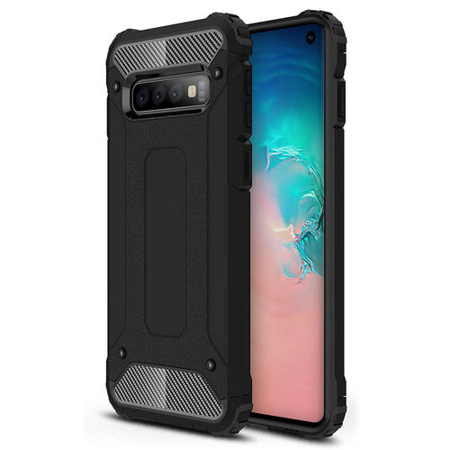 Military Defender Shockproof Case for Samsung Galaxy S10 - Black